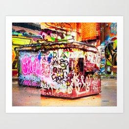 Graffiti Blitz. Art Print