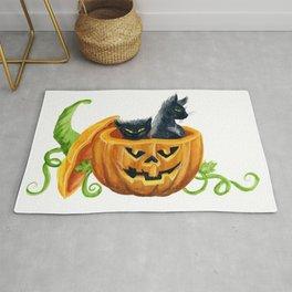 halloween cats, pumpkin, jack-o-lantern Rug