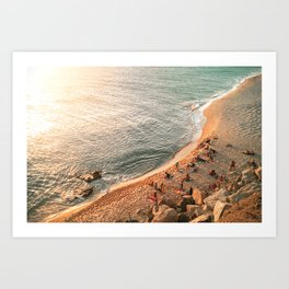 Golden Hour Beach Art Print