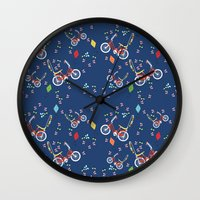 outdoor Wall Clocks featuring Outdoor Fun by curlywillowco