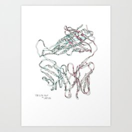 Fur Elise Fold Art Print