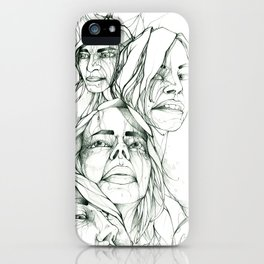 Les Demoiselles iPhone Case