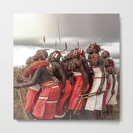 Africa: Ceremonial Dancing Metal Print