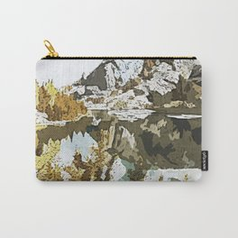 Natural Watercolor Carry-All Pouch