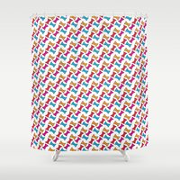 bows Shower Curtains featuring Bows by Amy Lou