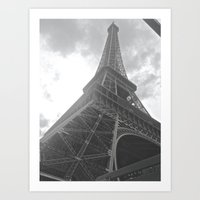 eiffel Art Prints featuring Eiffel by Nicole Christine