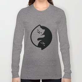 Cat Yin Yang Long Sleeve T-shirt