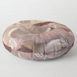 Mary Cassatt - Woman with a Pearl Necklace in a Loge (Dans la Loge) Floor Pillow
