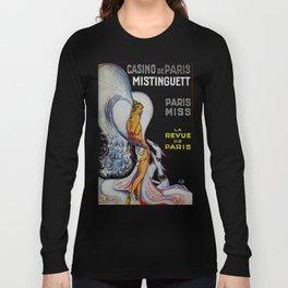 Vintage Paris France Cabaret Ad Long Sleeve T-shirt