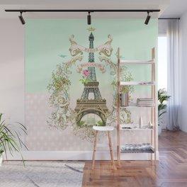 Bonjour Paris Wall Mural