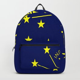 flag indiana,midwest,america,usa,carmel, Hoosier,Indianapolis,Fort Wayne,Evansville,South Bend Backpack