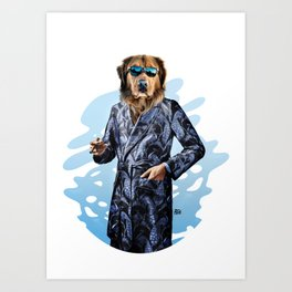 Smoking Dog Pepe Psyche Art Print