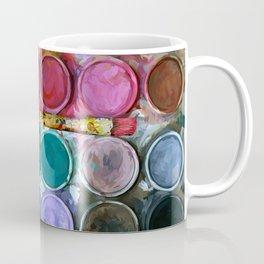 watercolor palette Digital painting Coffee Mug
