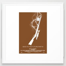 """Back to the Future Trilogy"" Poster Set - Part 3 Framed Art Print"