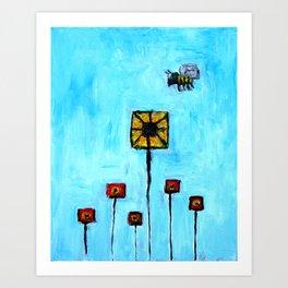 Buidling blocks from life Art Print