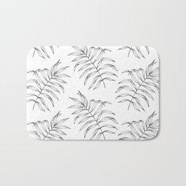 Palm Leaves Pattern Bath Mat