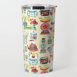 Hobby Kitchen Illustration Pattern Travel Mug