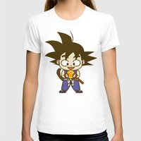 dragonball T-shirts featuring Young Goku with dragonball by Samtronika