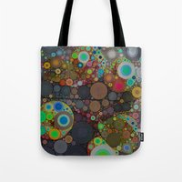 circles Tote Bags featuring Circles by Olivia Joy StClaire