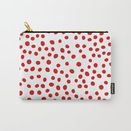 Red doodle dots Carry-All Pouch