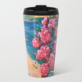 Hydrangeas by the Sea Travel Mug
