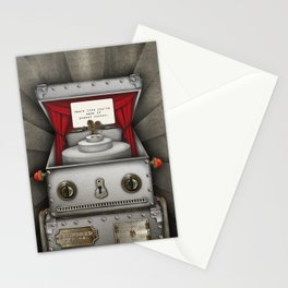 Robot suggests you dance. Stationery Cards
