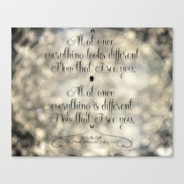 """""""I See the Light"""" by Mandy Moore and Zachary Levi from the movie """"Tangled"""" Canvas Print"""