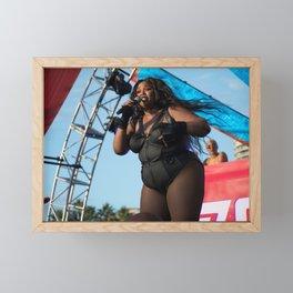 Lizzo performing at Music Tastes Good Festival Framed Mini Art Print