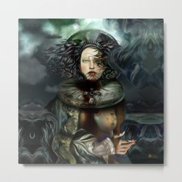 """Returning from a Dream Myth Creature"" Metal Print"