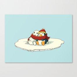 Penguin snowfriends Canvas Print