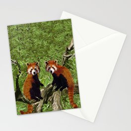 Frolicking Red Pandas Stationery Cards