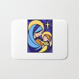Christmas illustration Bath Mat