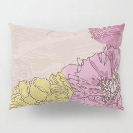 Retro Pink Peonies Pillow Sham