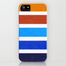 Blue & Brown Geometric Pattern iPhone Case