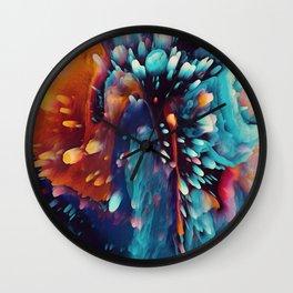 Dynamic colors splash alien-like landscape Wall Clock