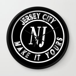 Jersey City - Make It Yours Wall Clock