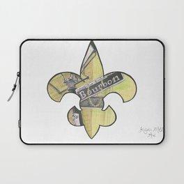 Fleur De Lis Bourbon Street Laptop Sleeve