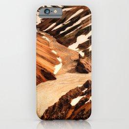 iceland mountains snow ravine iPhone Case