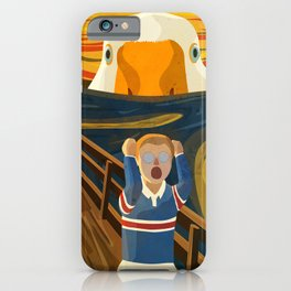 The Honk - Untitled Goose Game Famous The Scream Canvas Painting Parody Meme Thematic Gift iPhone Case