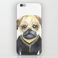 gangster iPhone & iPod Skins featuring Dog Gangster by Lucie Sperry