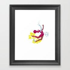Woman blob Framed Art Print