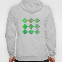 Green and violet mixed colors  Hoody