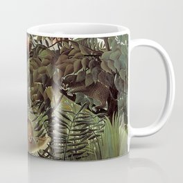 THE HUNGRY LION ATTACKING AN ANTELOPE - ROUSSEAU Coffee Mug