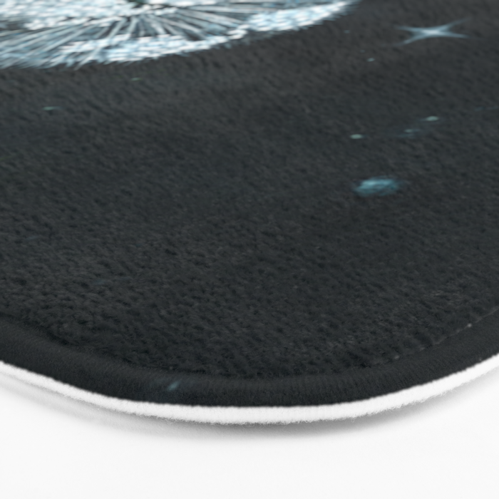 Blowing in Space Bath Mat