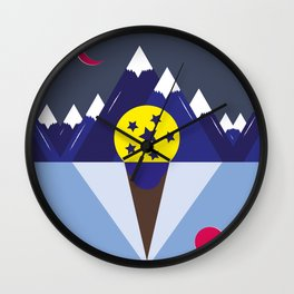 Surreal Ice Cream Wall Clock