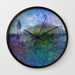 The Hill - Abstract Modern colourful Wall Clock