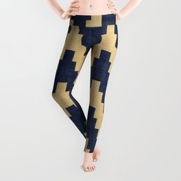Twine in Blue and Gold Leggings