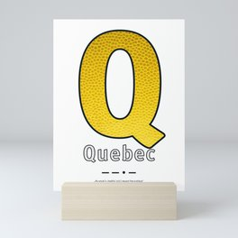 Quebec - Navy Code Mini Art Print