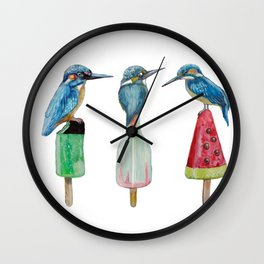 Kingfishes on popsicle Wall Clock