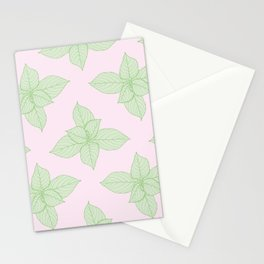Hortensia Leaves Pattern Stationery Cards